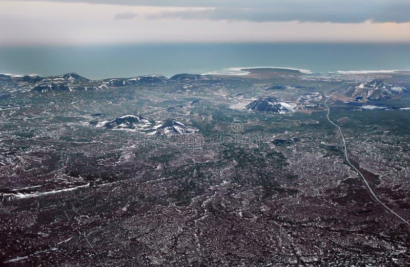 Ansicht großes Island von der Fläche lizenzfreies stockbild