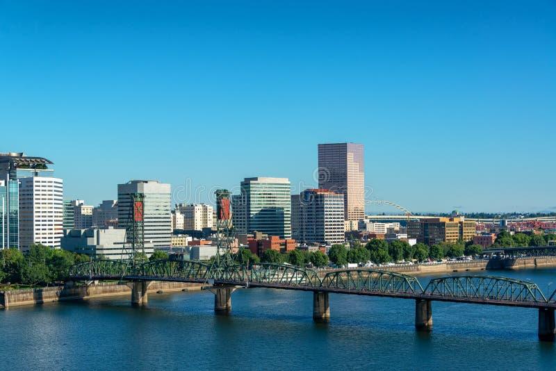 Ansicht im Stadtzentrum gelegenen Portlands, Oregon-Stadtbild lizenzfreie stockfotografie