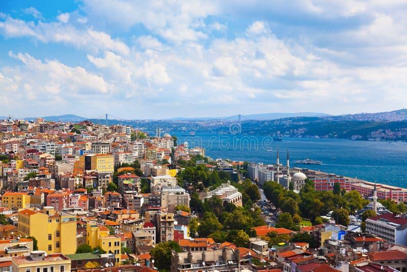 Ansicht Istanbul-die Türkei lizenzfreies stockfoto