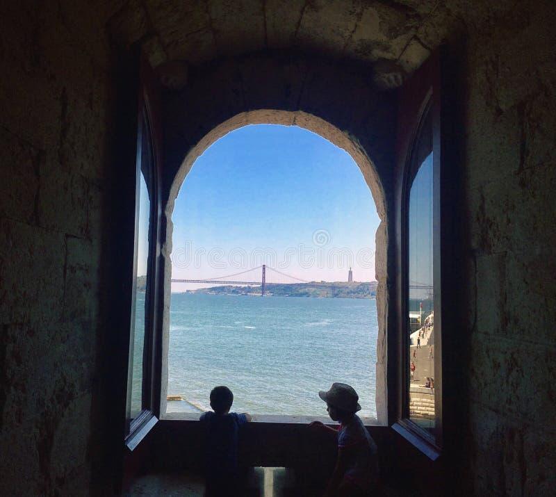Ansicht Lissabon Portugal lizenzfreies stockfoto
