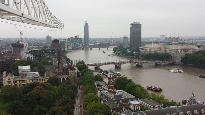 Ansicht Londons die Themse, Vereinigtes Königreich lizenzfreies stockbild