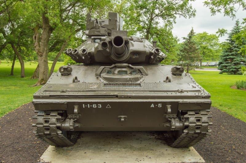 Ansicht M551A1 Sheridan Front lizenzfreie stockfotos