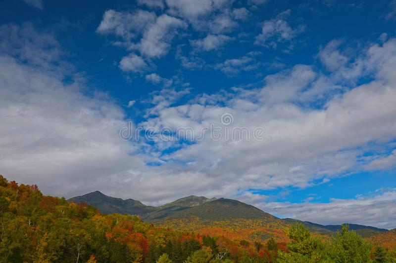 Ansicht mit Fall folliage von Mt Washington, New Hampshire, USA stockbilder
