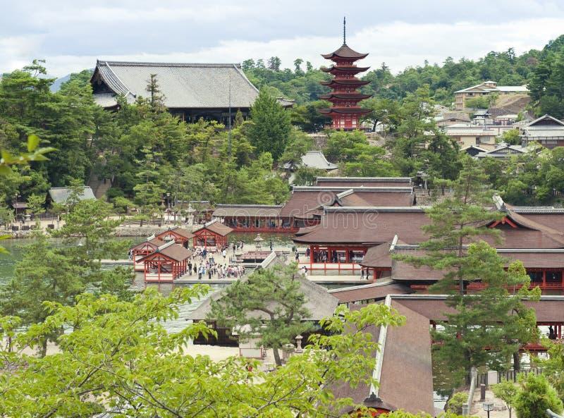 Ansicht in Miyajima lizenzfreie stockfotos