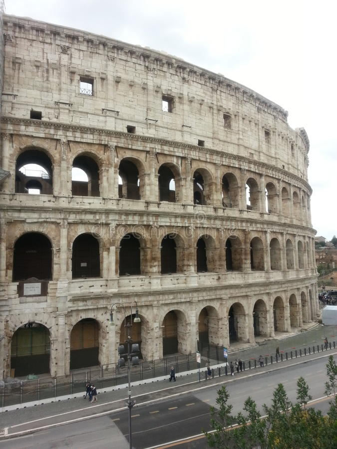 Ansicht-Monumente colosseo Europas Rom stockfoto