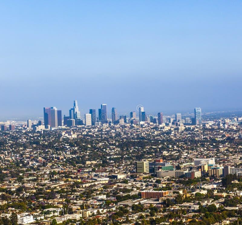 Ansicht nach im Stadtzentrum gelegenes Los Angeles lizenzfreie stockfotografie