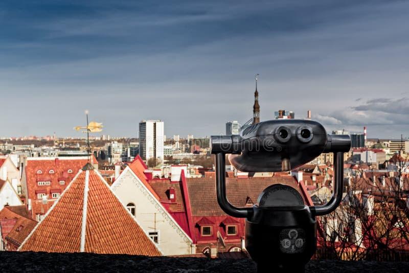 Ansicht nach Tallinn lizenzfreies stockbild