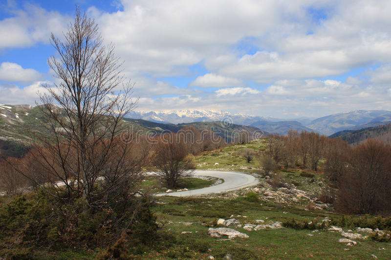Ansicht in Nationalpark Mavrovo stockfoto