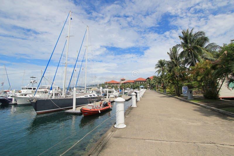 Ansicht in Sabah in Malaysia lizenzfreies stockfoto