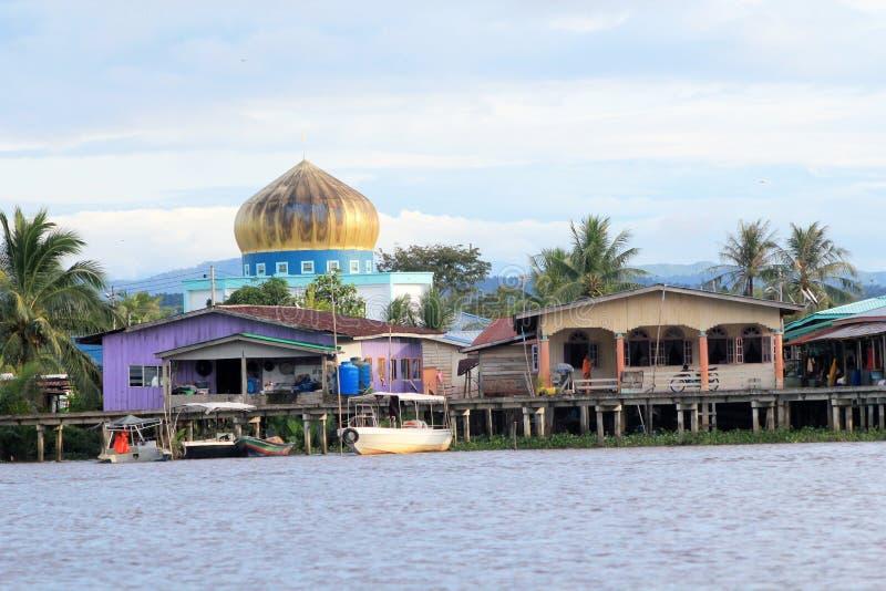 Ansicht in Sabah in Malaysia stockbild