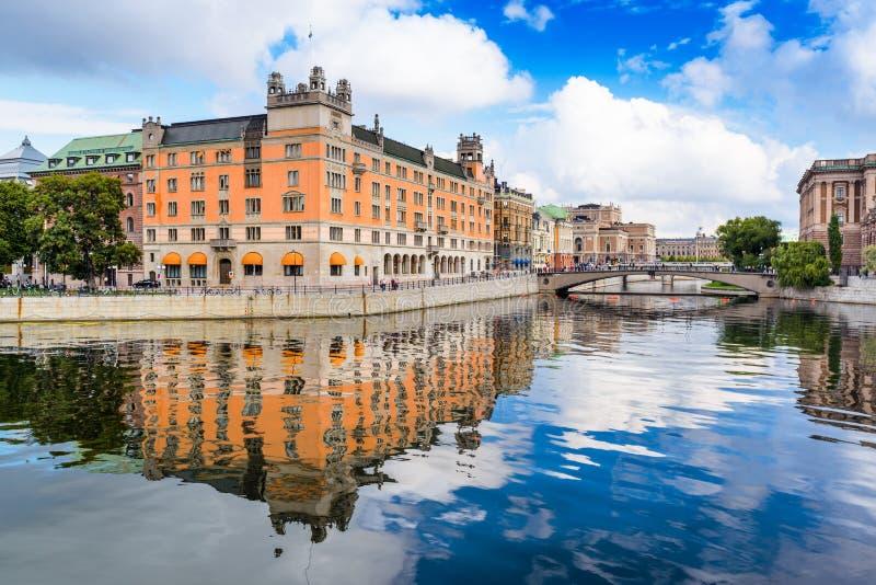 Ansicht Stockholms Schweden lizenzfreie stockfotografie