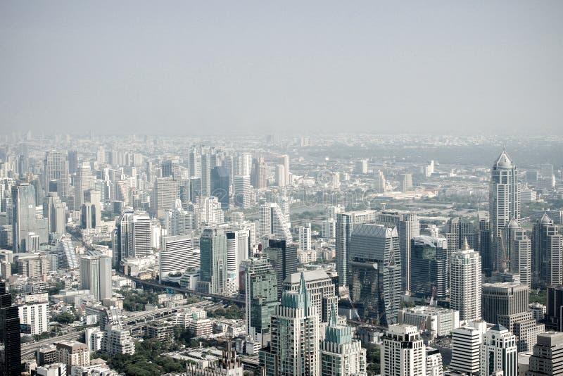 Ansicht Thailands Bangkok von Baiyoke-Turm auf 29 lizenzfreie stockbilder