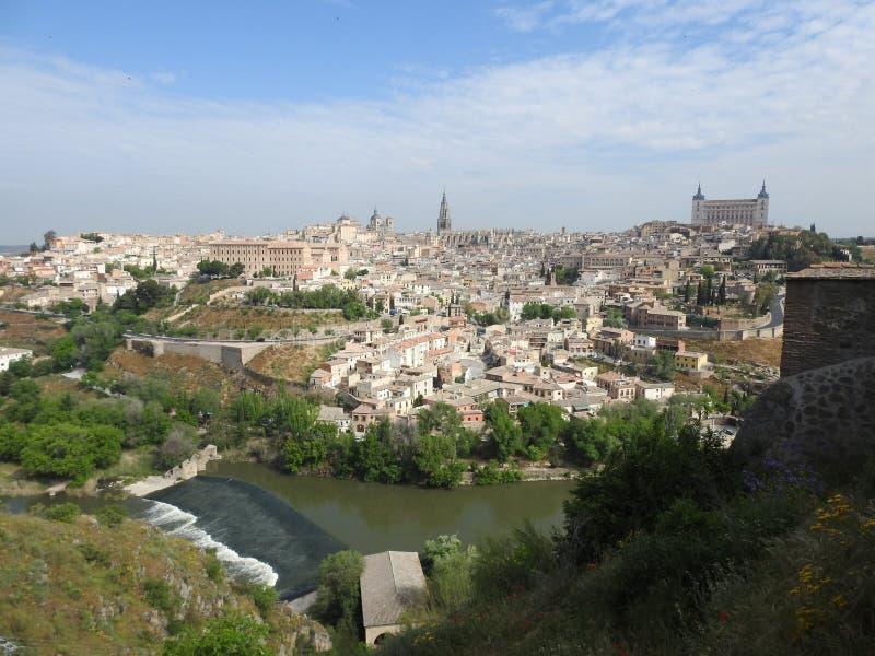 Ansicht Toledos, Spanien stockfoto
