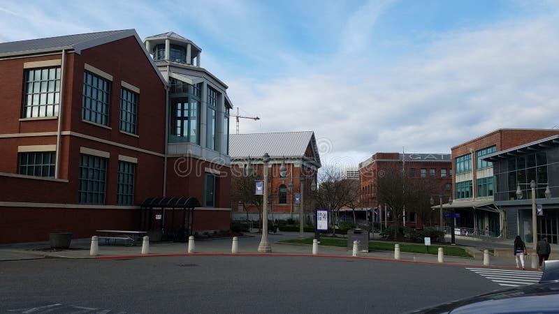 Ansicht um Campus stockfotos