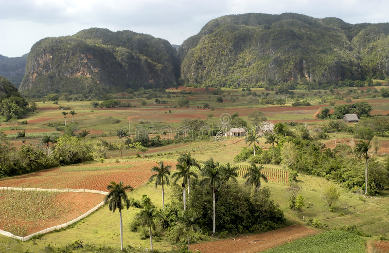 Ansicht in Valle de Vinales stockfoto