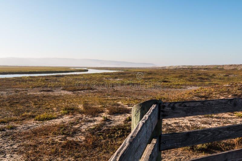 Ansicht vom Ausblick-Punkt von Tijuana River Estuarine lizenzfreies stockfoto
