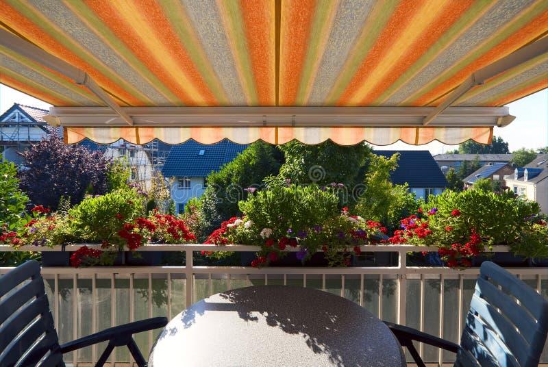 Ansicht vom Balkon lizenzfreie stockbilder