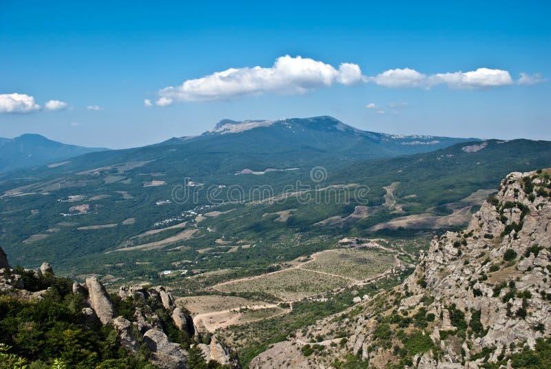Ansicht vom Berg lizenzfreies stockbild