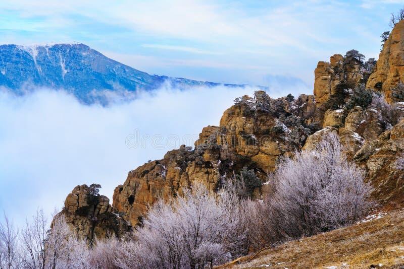 Ansicht vom Berg Demerzhdy, Krim, Ukraine stockbilder