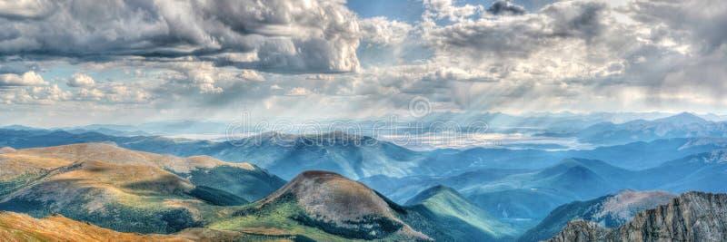 Ansicht vom Berg Evans Colorado lizenzfreies stockfoto