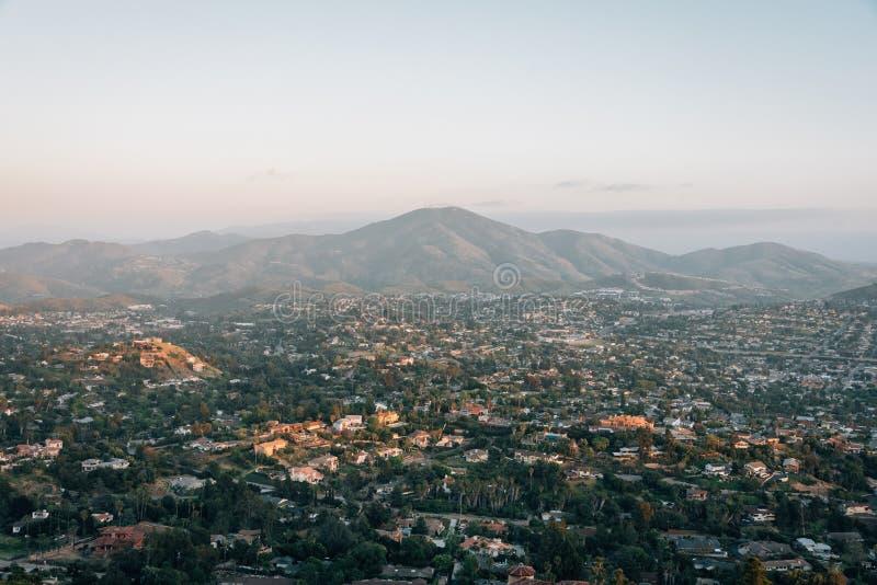 Ansicht vom Berg-Helix, in La Mesa, nahe San Diego, Kalifornien stockbilder