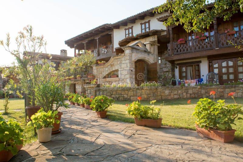 Ansicht vom bulgarischen Bauernhof stockfoto