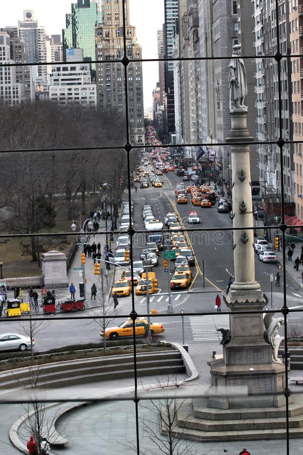 Ansicht vom Columbus-Kreis-Mall stockbilder