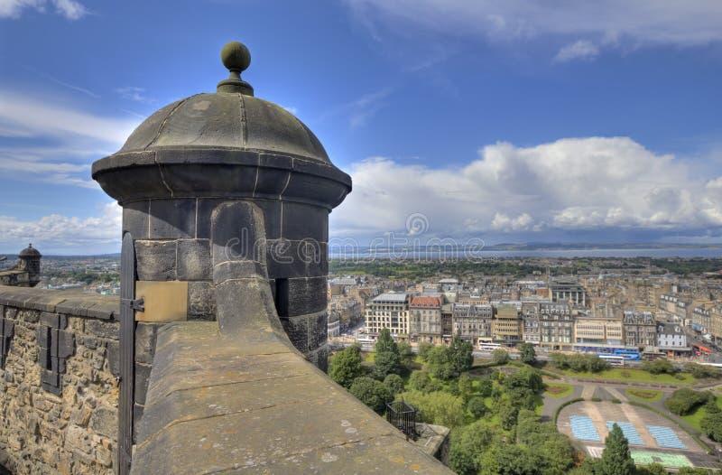 Ansicht vom Edinburgh-Schloss lizenzfreie stockfotografie