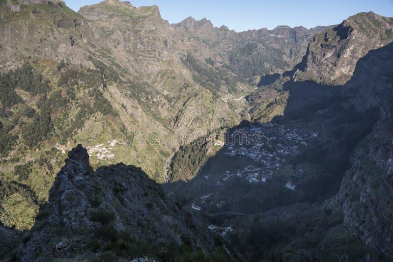 Ansicht vom Eira tun Serrado Madeira Portugal stockfotos