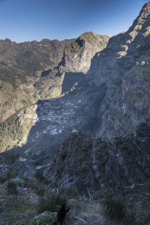 Ansicht vom Eira tun Serrado Madeira Portugal stockfotografie