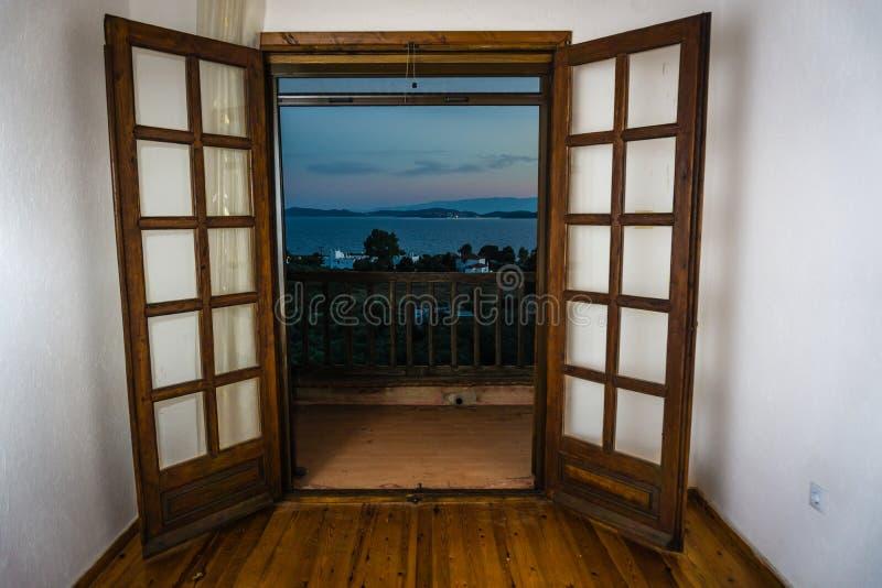Ansicht vom Fenster stockfotografie