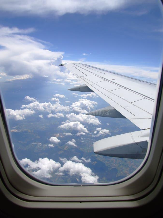 Ansicht vom Flugzeug stockfotografie