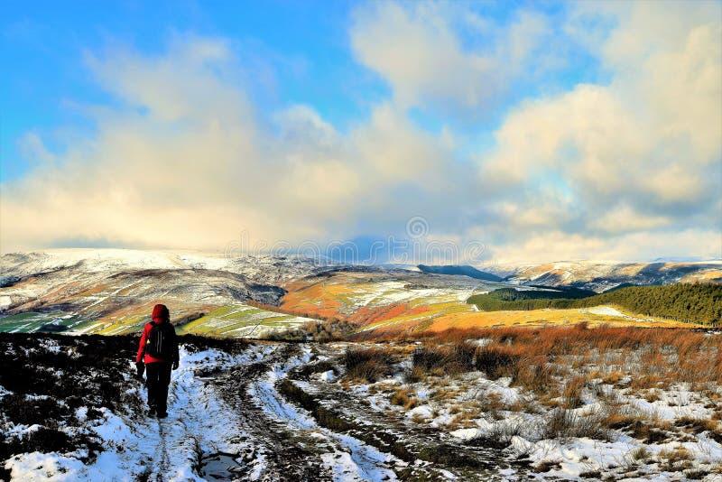 Ansicht vom Gewinn-Hügel Pike im Hoffnungs-Tal, Derbyshire lizenzfreies stockfoto