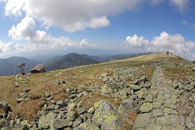 Ansicht vom Hügel Chopok, Slowakei lizenzfreies stockbild