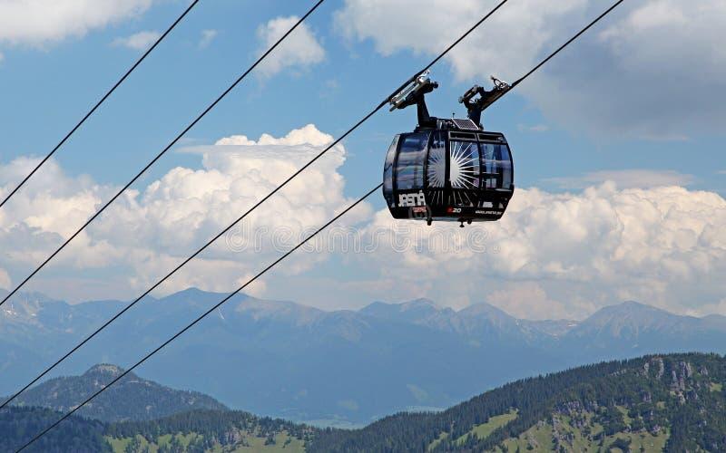 Ansicht vom Hügel Chopok, Slowakei stockbilder