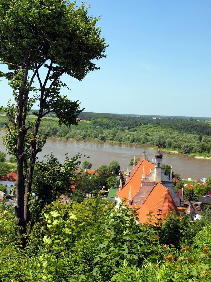 Ansicht vom Hügel von drei Kreuzen der alten historischen Stadt von stockfotos