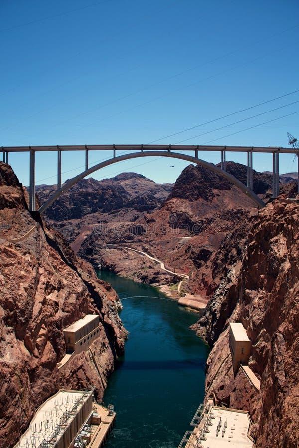 Ansicht vom Hooverdamm Nevada, die Vereinigten Staaten von Amerika lizenzfreies stockbild