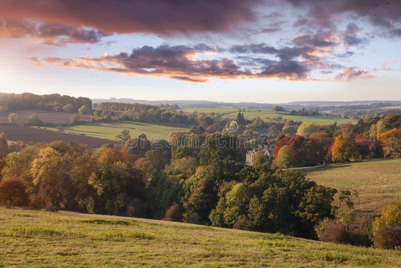 Ansicht vom Laderaum-auf-d-Wold, Cotswolds, England lizenzfreie stockbilder
