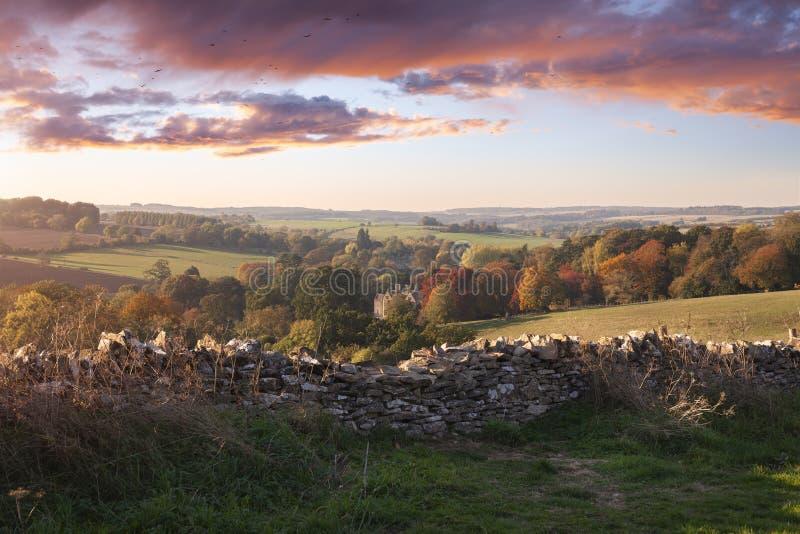 Ansicht vom Laderaum-auf-d-Wold, Cotswolds, England stockfoto