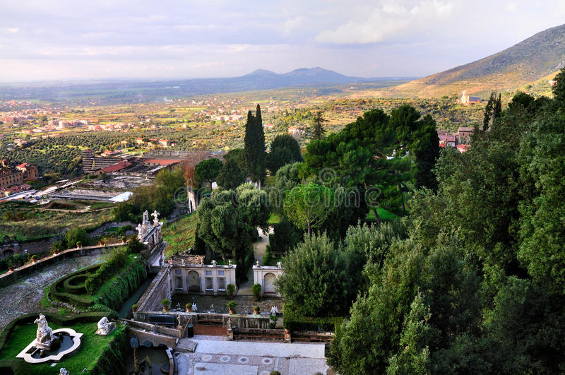 Ansicht vom Landhaus d'Este stockbild