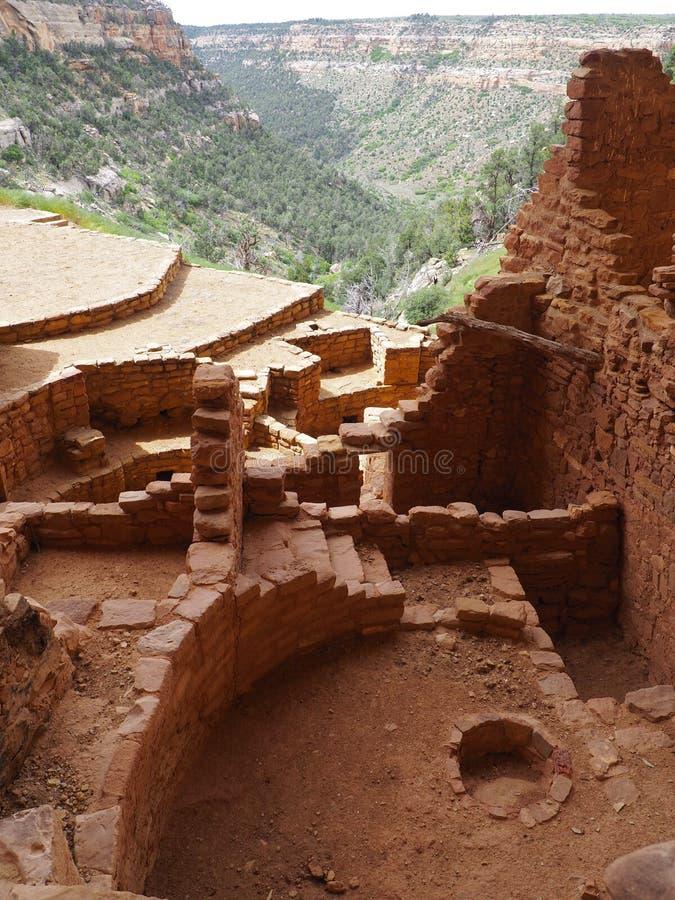 Ansicht vom langen Haus, Mesa Verde, Colorado lizenzfreie stockfotografie