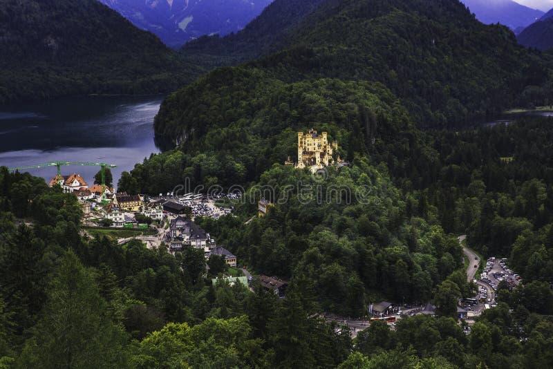 Ansicht vom Neuschwanstein-Schloss stockfoto