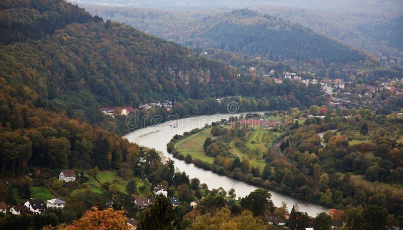 Ansicht vom Schloss bei Dilsberg stockbild
