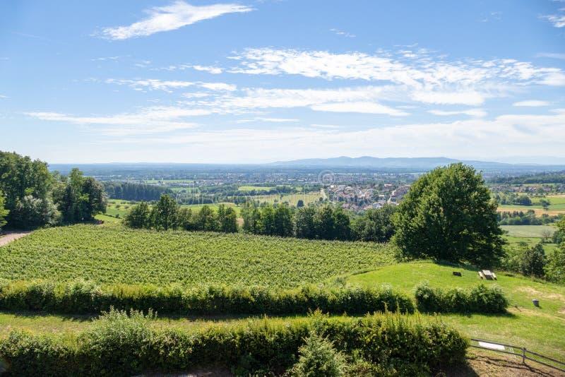 Ansicht vom Schloss Hochburg bei Emmendingen stockbild