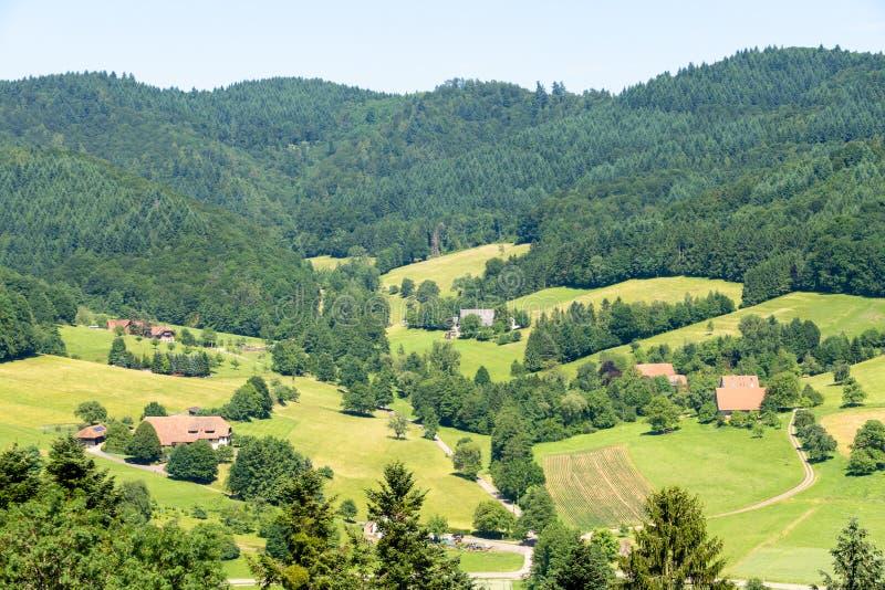 Ansicht vom Schloss Hochburg bei Emmendingen stockfotografie