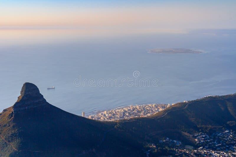 Ansicht vom Tafelberg stockbilder