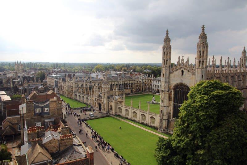 Ansicht vom Turm von St Mary das große, Cambridge, England stockfotografie
