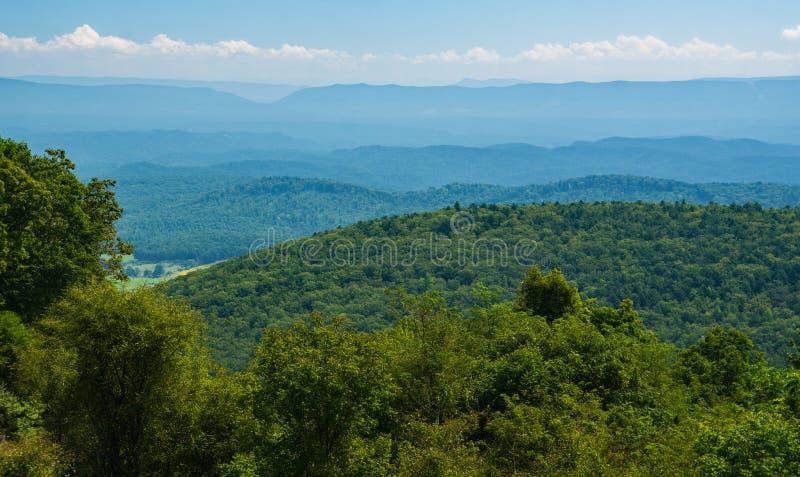 Ansicht vom warmen Frühlings-Berg FO die Allegheny-Berge stockbild