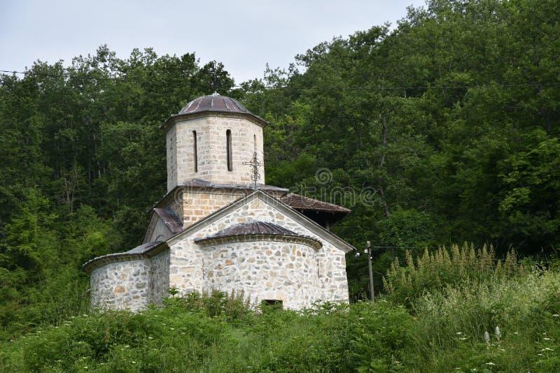 Ansicht von Abstand zu Kloster Gorcince stockbild