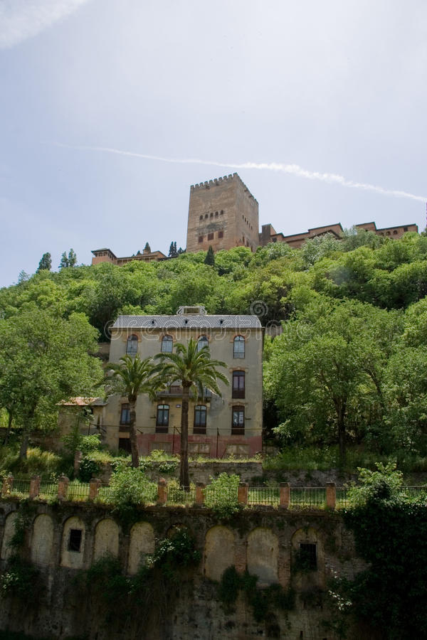 Ansicht von Alhambra stockbilder